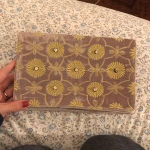 Beautiful velvet embroidered clutch